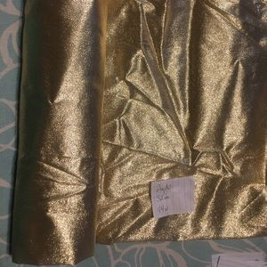 Vintage tissue gold lame fabric 2yds 32in